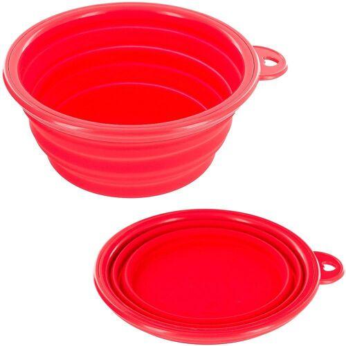 HEIM Set: Hunde-Futternapf 2x 300 ml, Ø 11 cm, rot