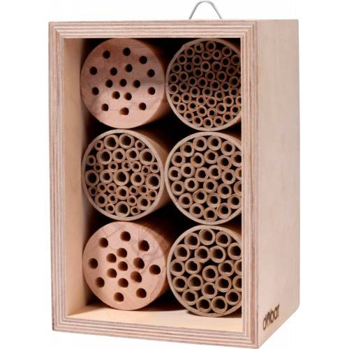 dobar Insektenhotel »Profi«, BxTxH: 15x12,5x22 cm, für Wildbienen, natur