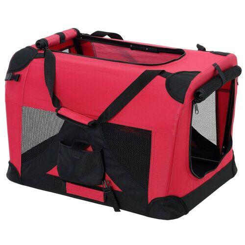 Pro-tec Tiertransporttasche, Hundetransportbox Faltbar von S bis XXXXL Transportbox 4 verschiedene Farben, rot