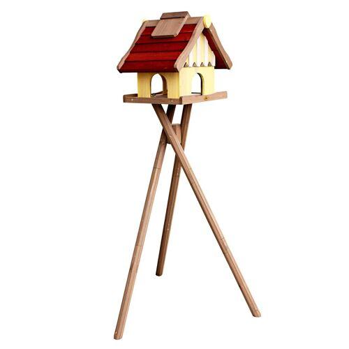 Habau Vogelhaus »Norwegen«, mit Standbein, B/T/H: 35/44/40 cm, rot
