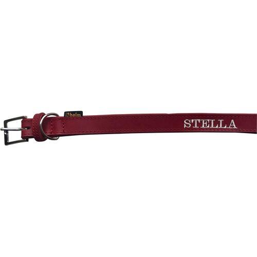 HEIM Hunde-Halsband »Florenz«, Echtleder, mit besticktem Wunschtext