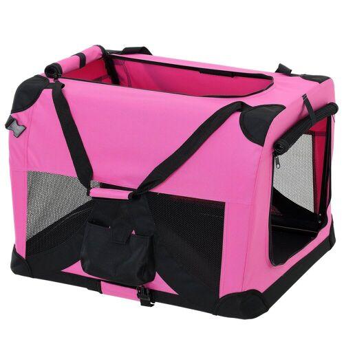 Pro-tec Tiertransporttasche, Hundetransportbox Faltbar von S bis XXXXL Transportbox 4 verschiedene Farben, pink