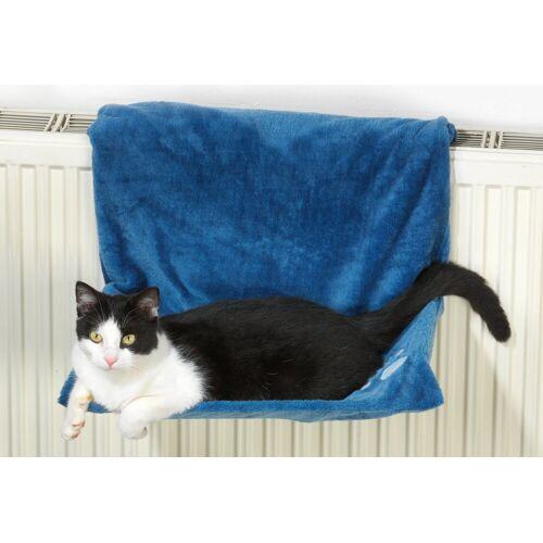 SILVIO design Katzen-Heizkörperliege »Plüsch«, blau