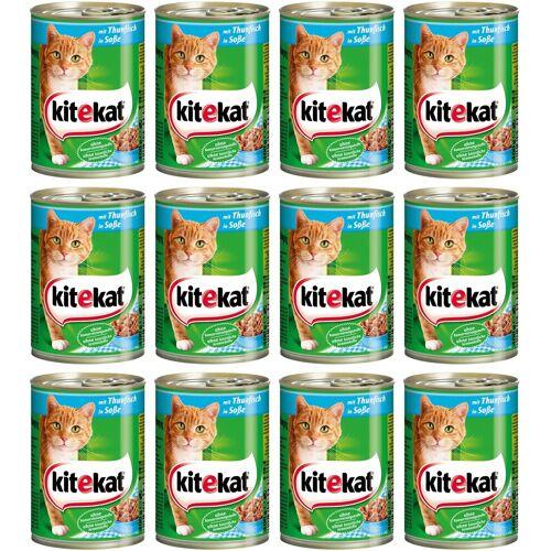 Kitekat Nassfutter »Rind in Sauce«, für Katzen, 12 Dosen á 400 g