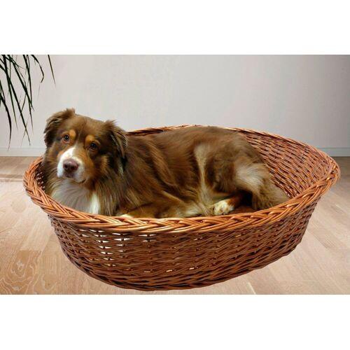 SILVIO design Hundekorb und Katzenkorb »Weide Ruhekorb mit Kissen«, braun