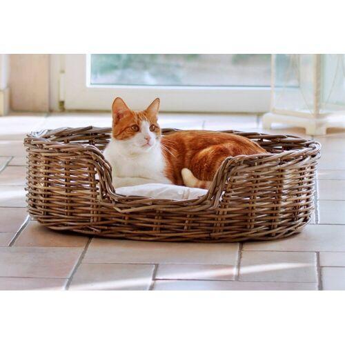 SILVIO design Hundekorb und Katzenkorb »Rattan«, braun