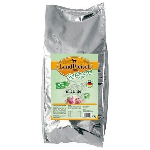 LANDFLEISCH Hundetrockenfutter »Softbrocken Ente«, 5 kg, braun
