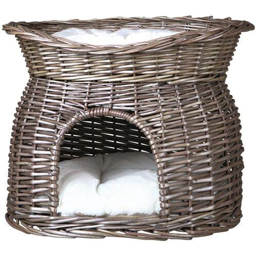 TRIXIE Katzen-Korbturm »Weidenkorb mit Kissen«, grau