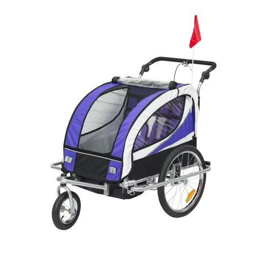 HOMCOM Fahrradkinderanhänger »2 in 1 Kinderanhänger für 2 Kinder«