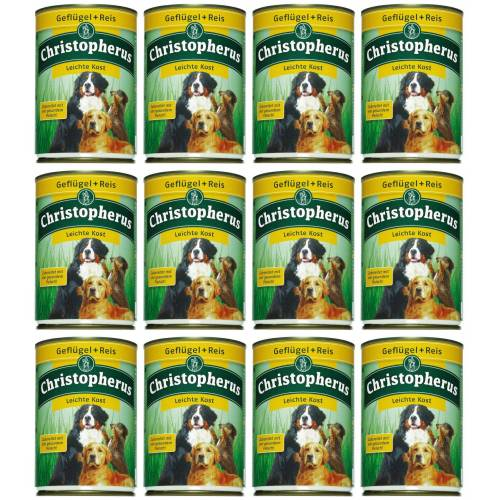 Christopherus Hundenassfutter »Leichte Kost«, 12 Dosen á 400 g oder 12 Dosen á 800 g, braun