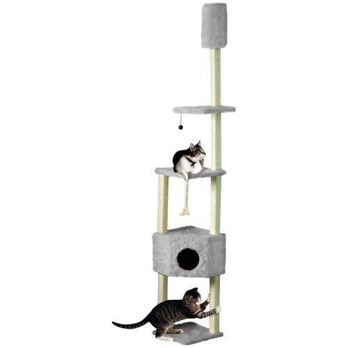 Cat Dream Kratzbaum-Deckenspanner , B/T/H: 38/38/230-260 cm, grau, grau