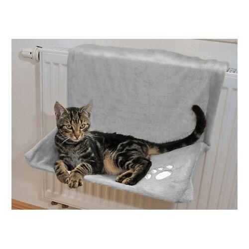 SILVIO design Katzen-Heizkörperliege »Plüsch«, grau