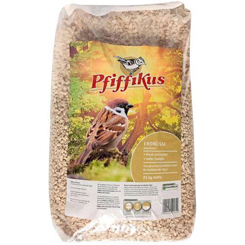 Pfiffikus Vogelfutter »Erdnüsse«, blanchiert, 25 kg, braun