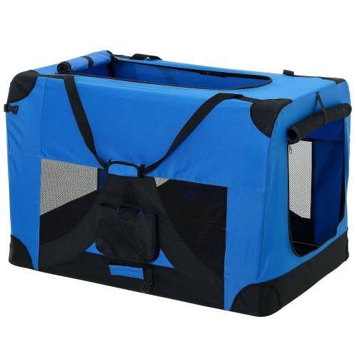 Pro-tec Tiertransporttasche, Hundetransportbox Faltbar von S bis XXXXL Transportbox 4 verschiedene Farben, blau
