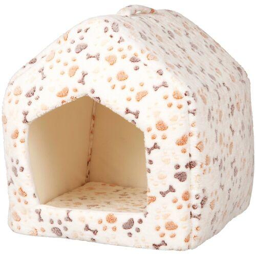 TRIXIE Hundehöhle und Katzenhöhle »Lingo«, BxL: 40x40 cm, weiß/beige
