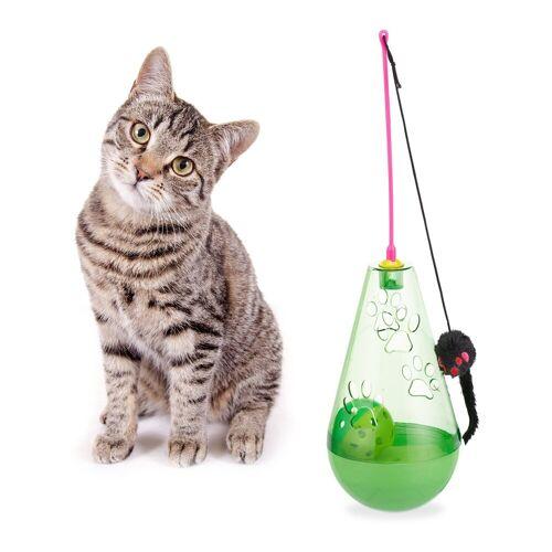 relaxdays Tier-Beschäftigungsspielzeug »Katzenspielzeug 3 in 1«, PP, Grün