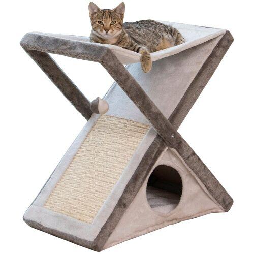 ABUKI Hundehöhle und Katzenhöhle »Criss-Cross«, BxTxH: 60x36x60 cm, grau