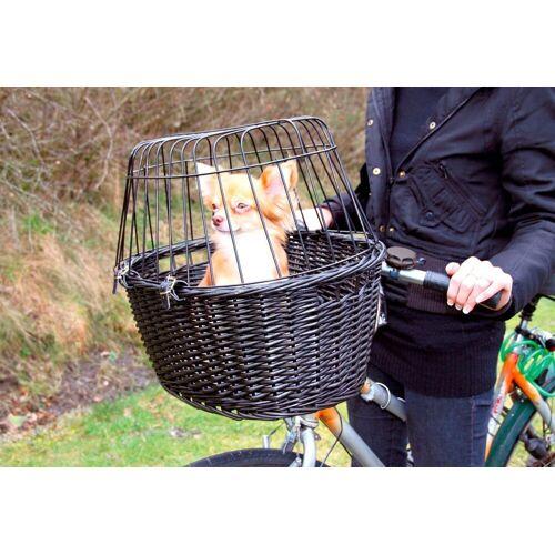 TRIXIE »Fahrradkorb mit Gitter«, schwarz