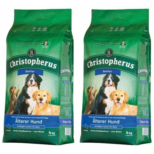 Christopherus Hundetrockenfutter »Älterer Hund«, 2 Beutel á 4 kg, braun