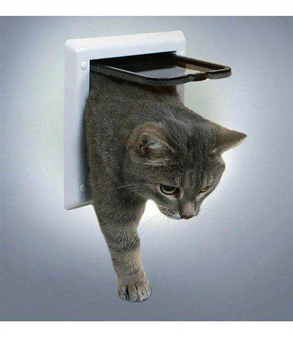 TRIXIE Katzen-Freilauftür, weiß