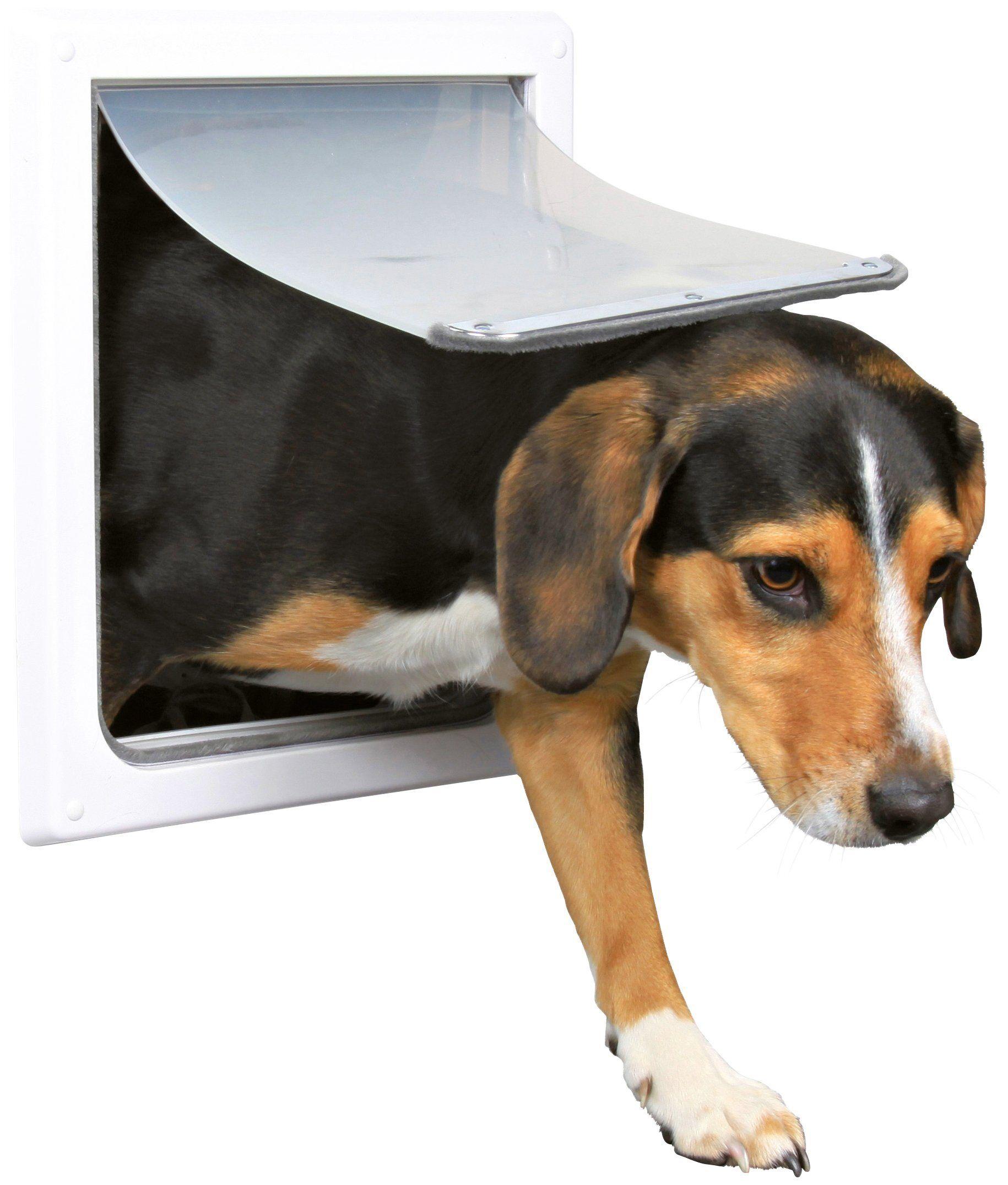 TRIXIE Zwei-Wege-Freilauftür »S-M«, für Hunde, BxH: 30x36 cm, weiß