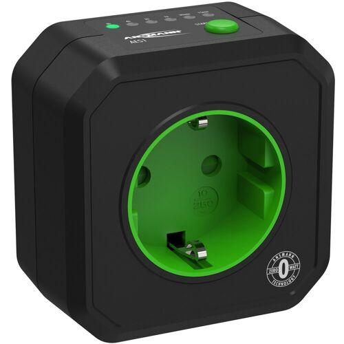 Ansmann »Timer-Steckdose Schaltbare Energiesparsteckdose Countdown Zeitgesteuert« Funksteckdose (Kabellänge 0 m)