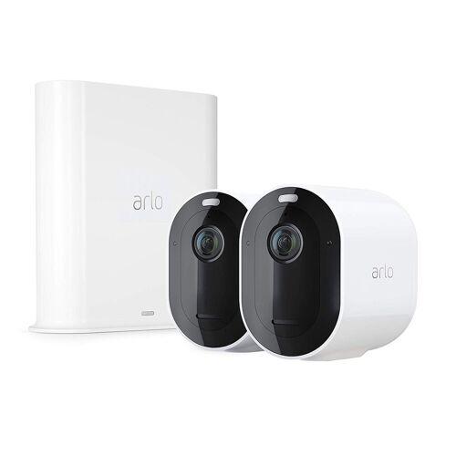 ARLO Pro 3 Sicherheitssystem mit 2 Kameras »kabellose 2K-QHD-Sicherheitskamerasystem«, weiß