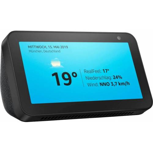Echo Show 5 Bluetooth-Lautsprecher (WLAN (WiFi), Bluetooth), schwarz