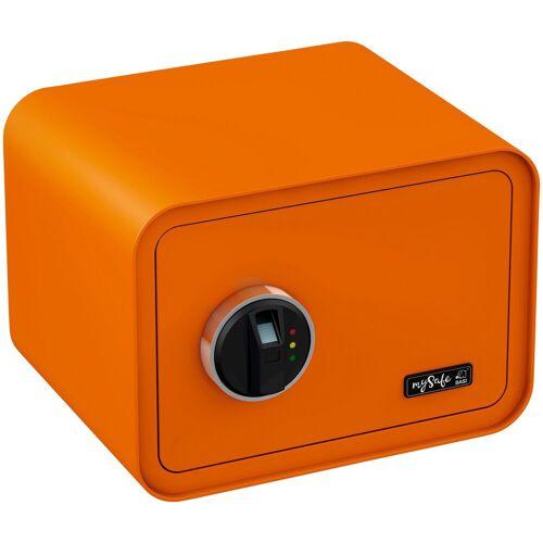 BASI Tresor »mySafe 350«, mit Fingerabdruck, orange