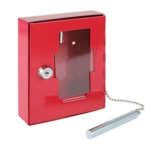 HMF Schlüsselkasten »NSK 102«, Notschlüsselkasten mit Hammer, 5 x 12 x 4 cm