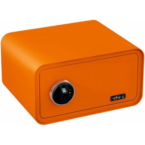 BASI Tresor »mySafe 430«, mit Fingerabdruck, orange