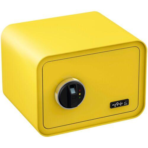 BASI Tresor »mySafe 350«, mit Fingerabdruck, gelb