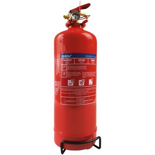 GEV Feuerlöscher »Pulverlöscher, 2 Kg«, für Haus, Auto und Camping, rot