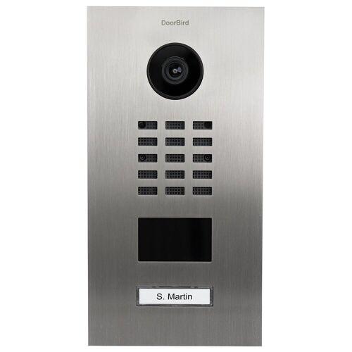 DoorBird »D2101V Video-Türstation V2A Edelstahl 1 Ruftaste« Smart Home Türklingel (Edelstahl)