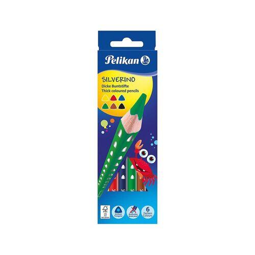 Pelikan Buntstift »Dickkern-Buntstifte SILVERINO, Dreiecksform, 6«