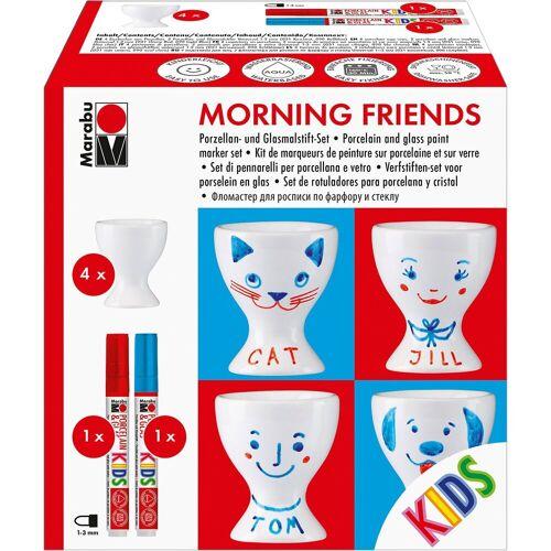 "Marabu KIDS Porzellan- & Glasfarben-Set ""Morning friends"", 4 Eierbe"