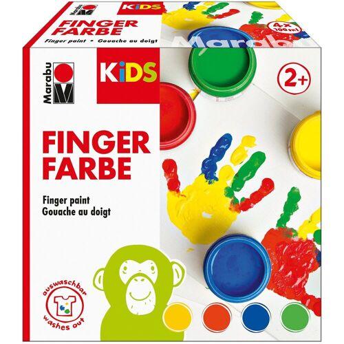 Marabu KIDS Fingerfarbe, 4 x 100 ml