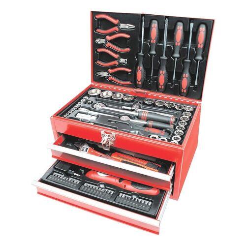Brüder Mannesmann Werkzeuge 155-tlg. Werkzeugbox, rot