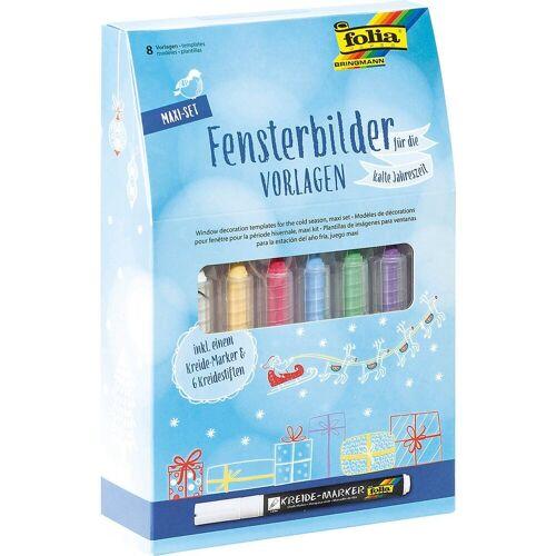 Folia Fenstersticker »Fensterbilder Maxi-Set Kalte Jahreszeit«,