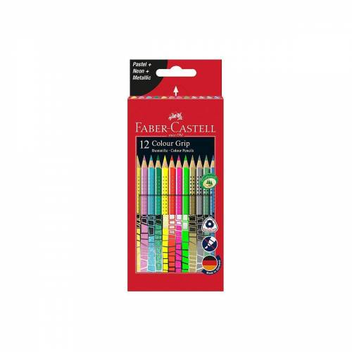 Faber-Castell Buntstift »Buntstifte COLOUR GRIP Sonderfarben, 12 Farben«