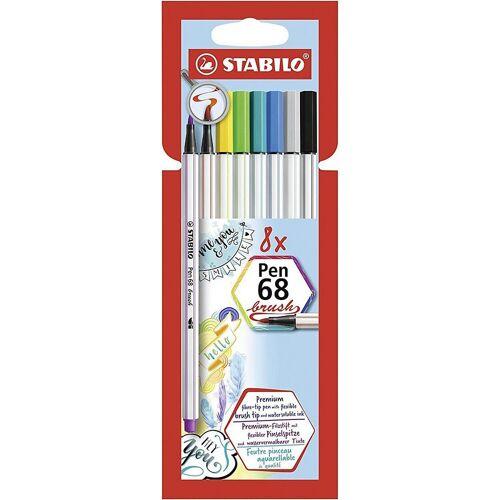 STABILO Filzstift »Premium-Filzstifte Pen 68 brush, 8 Farben«