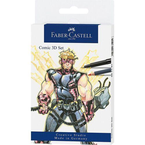 Faber-Castell Malstift »PITT ARTIST Pens Tuschestift Comic-3D-Set, 11-tlg.«