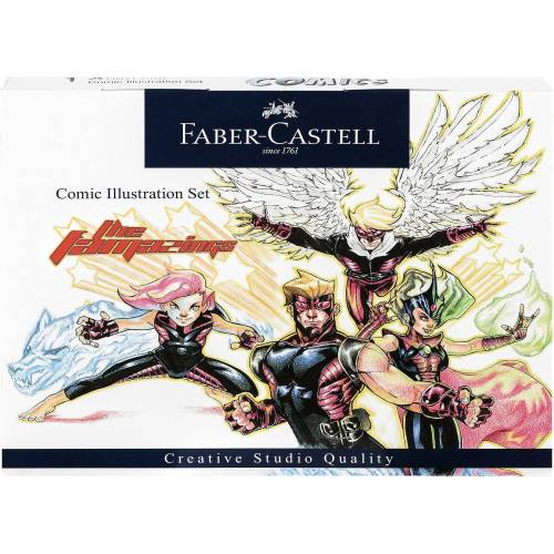 Faber-Castell Dekorierstift »Starter Set Comic Illustration, 15-tlg.«