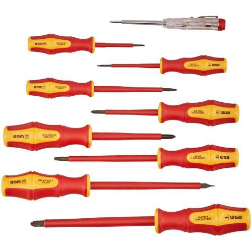 WGB Das Werkzeug Schraubendreher 9-tlg. VDE-Garnitur, Stahl, rot