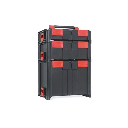 smarty space savers Werkzeugkoffer »Werkzeugkoffer 5er Set«, Profi Werkzeugkoffer