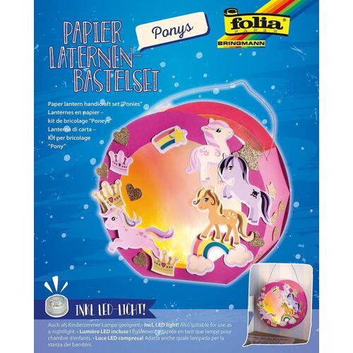 Folia Laterne »Laternen-Bastelset Pony, inkl. Deko-Licht«