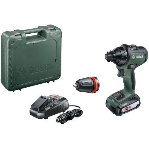 Bosch Akkuschrauber »AdvancedDrill 18«, 18 V, inkl. Akku, Ladegerät, Bohrfutter und Koffer, grün