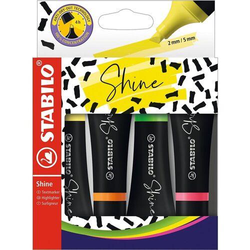 STABILO Textmarker SHINE, 4 Farben