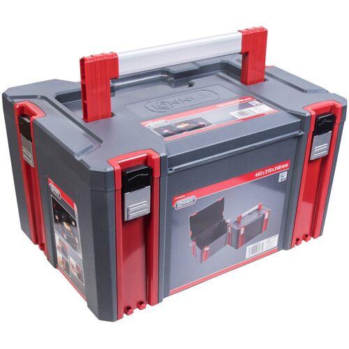 Connex Werkzeugkoffer Systembox, Größe L, grau
