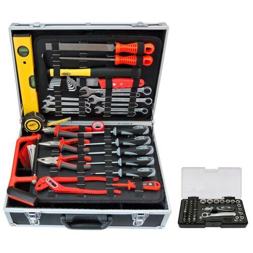 FAMEX Sparset: Werkzeugkoffer »754-50« inkl. Steckschlüsselsatz, schwarz